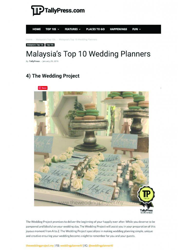 Malaysia's Top 10 Wedding Planners
